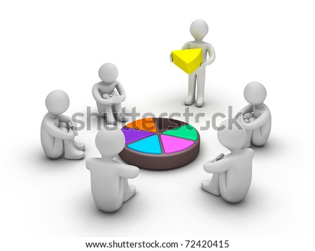 3d people waiting for completion of Trivial Pursuit game