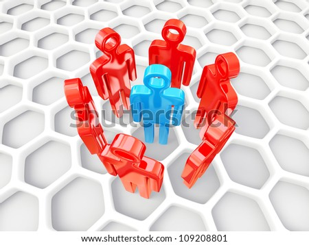 3d peoples isolated on a white background