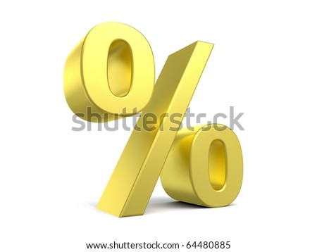 3d percent sign from my golden collection
