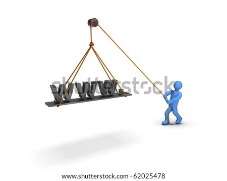 3d person uploading a website manually