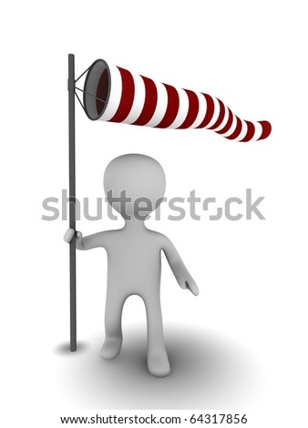 3d person with windsock