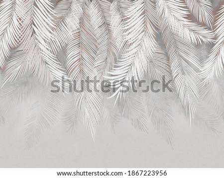 3d picture of fluffy leaves on the background