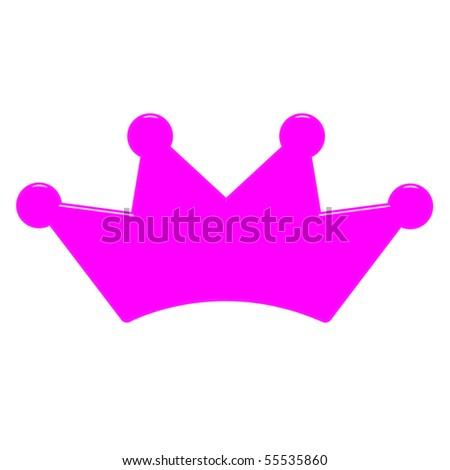 pink queen crown logo