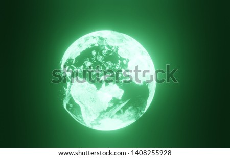 3D planet earth on a black background stock photo