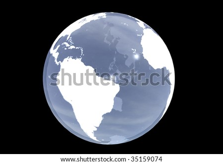 3D planet Earth - Usable for logo