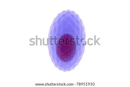 3d plasma cell in a white background