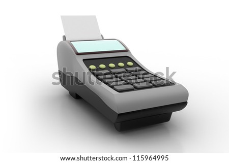 3D POS-terminal isolated