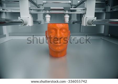 3D Printinted Model Of Human Head