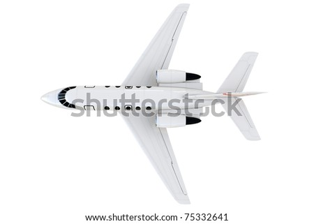 3d private plane isolated on white background