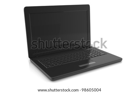 3D professional Laptop on white background - stock photo