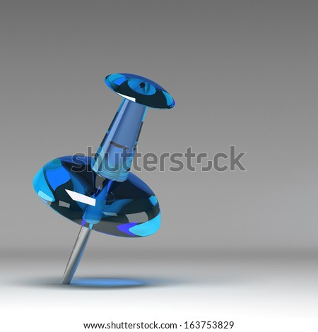 3d Pushpin - stock photo