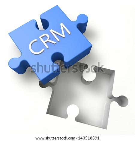 3d Puzzle concept: CRM - Customer Relationship Management