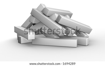 3D Puzzle - Unsolved - stock photo