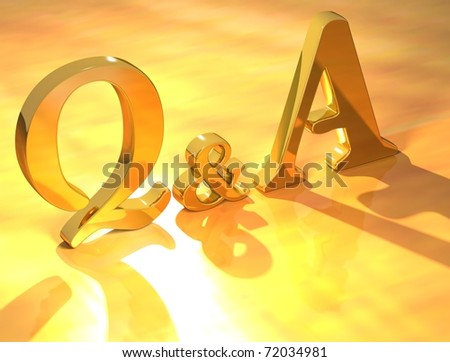 3D Question & Answer on yellow background