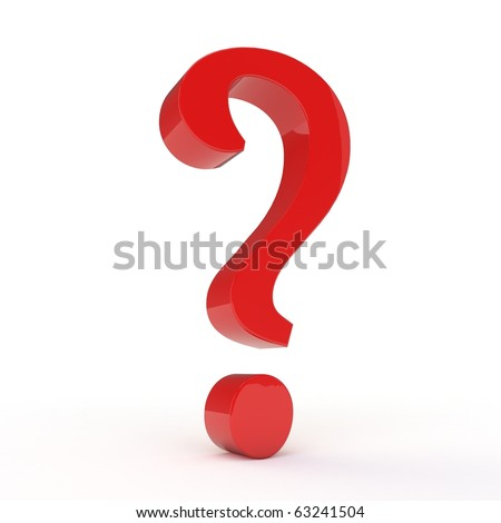 3D question mark isolated on white