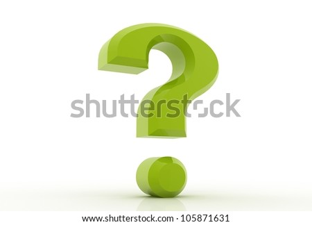 3d question marks on white background