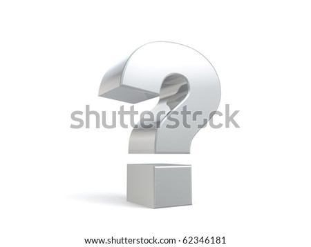 3d question sign from my metal collection - stock photo