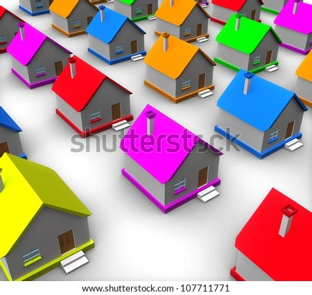 3d real estate concept - stock photo