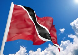 3D realistic waving flag of Trinidad and Tobago