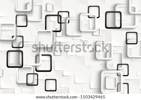 3D Rectangular abstraction background.