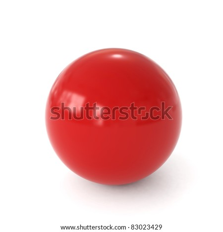 3d red ball - stock photo