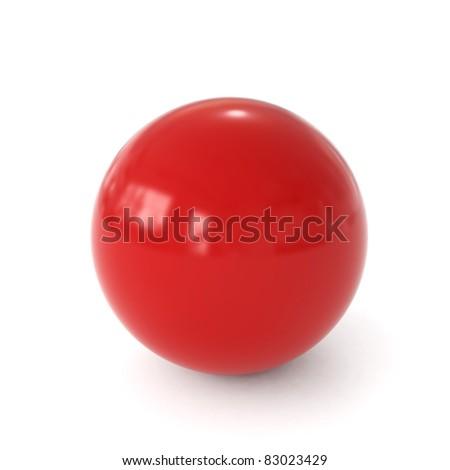 3d red ball