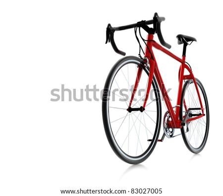 3d red bike