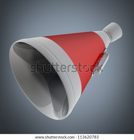 3d red megaphone High resolution - stock photo