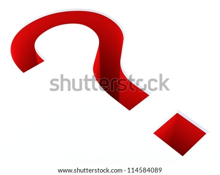 3D red question mark...