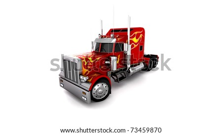 3D Red Truck