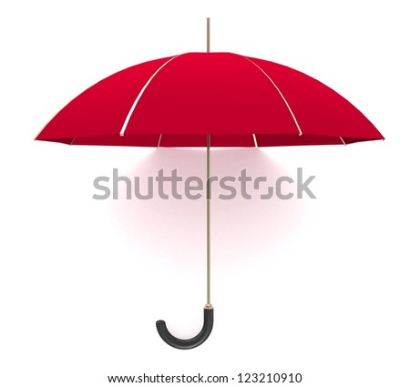 3d Red umbrella