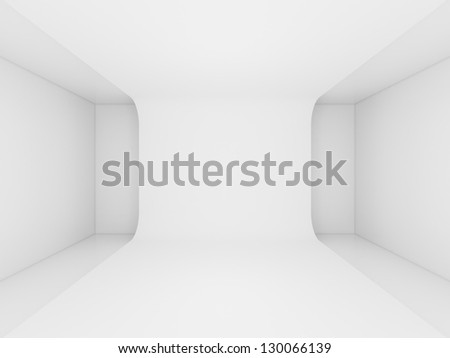 3d render abstract architecture interior