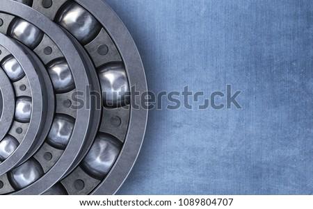 3d render Ball bearing (close-up)