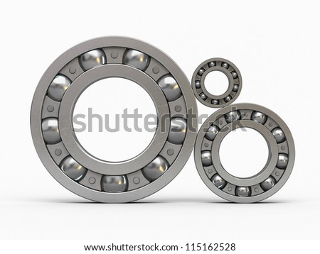 3d render Ball Bearing (isolated on white and clipping path)