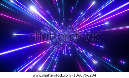 3d render, big bang, galaxy, abstract cosmic background, celestial, beauty of universe, speed of light, fireworks, neon glow, stars, cosmos, ultraviolet infrared light, outer space