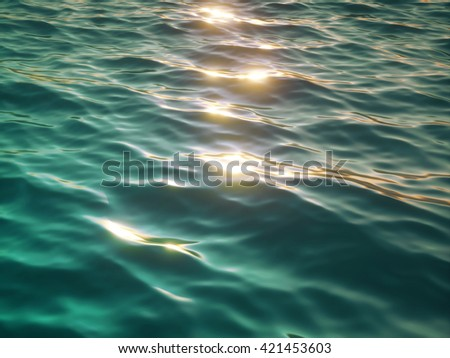 3d render, 3d illustration, wavy water surface, ocean, lake, waves, ripple