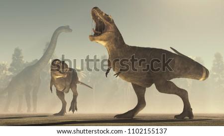 3d render dinosaur. This is a 3d render illustration. #1102155137