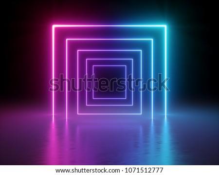3d render  glowing lines ...