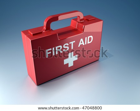 3d render illustration of a first aid box