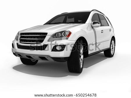 3D render image representing an luxury suv / Luxury SUV