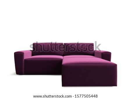 3d render.Isolated sofa on a white background. Sofa in the style of minimalism for the catalog.