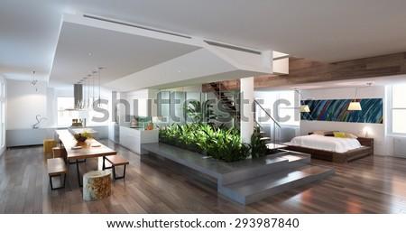 3d render living room #293987840