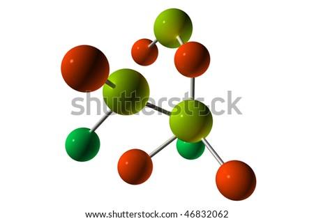 3D Render Molecule