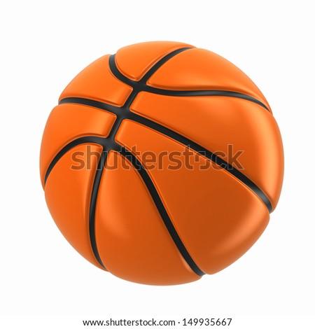 3d render of a basketball ball