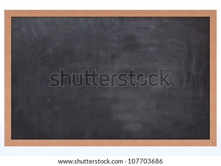 3D Render of a Blank Chalk Board