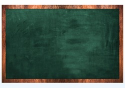 3D Render of a Blank Chalk Board. Back to school.