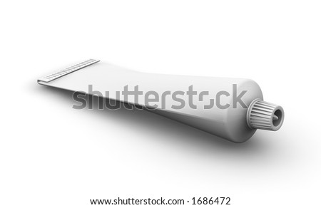 3D render of a blank tube