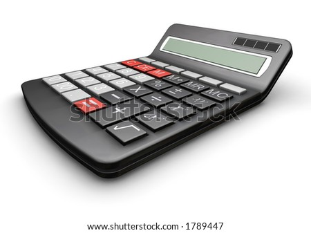 3D render of a calculator
