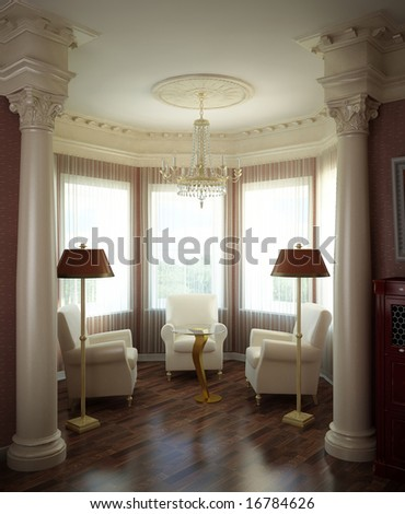 3d interior design blank room...