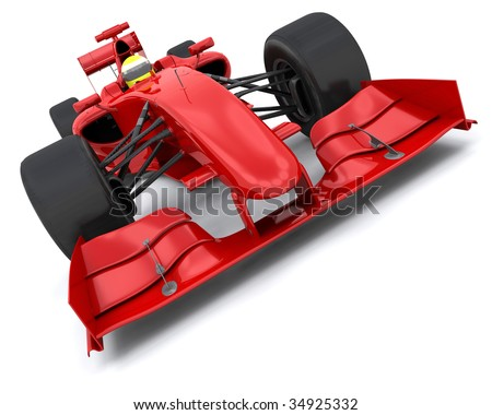 Formula  Auto Racing News on 3d Render Of A Formula One Racing Car Stock Photo 34925332